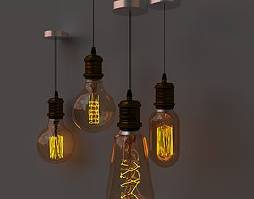 living edison lamp 3D