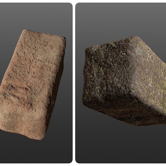 4K BRICK model STYLE Forest and Mars 3D model