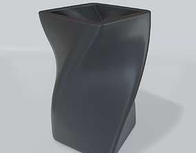 Pen holder in the form of a spiral 3D print model