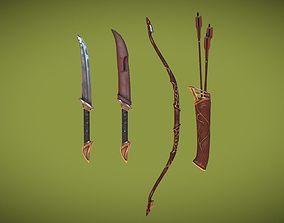 3D asset Elven Weapon Pack PBR