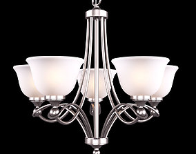 Home Decorators Collection 5-Light Antique Nickel 3D model