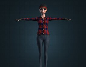 3D asset Cute Toon Female Girl Character Best Ever