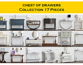 chest of drawers Collection 17 Pieces 3D model
