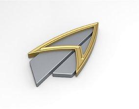 Badge from Star Trek Picard version 2 3D print model