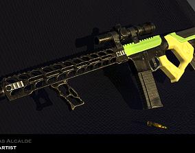 3D asset game-ready Machine Gun