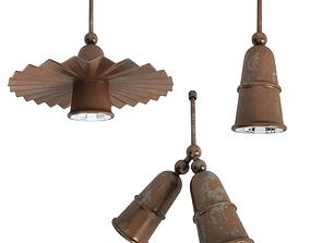 3D Civetta Rusty Pendatnt Lamps