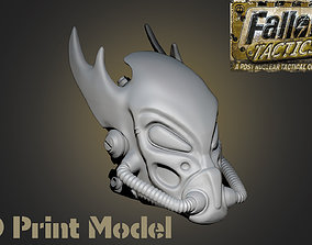 Fallout Tactics Helmet nuclear 3D printable model