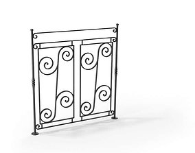 Metal railing 93 am79 3D model