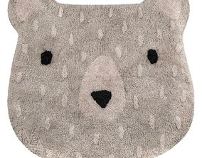 Sass and Belle Gray Bear Camp Rug 3D model