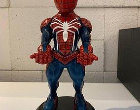 3D printable model spiderman cellphone and joystick holder
