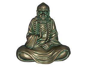 Sitting Bodhidharma Sculpture 3D print model