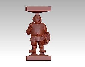 Fat funny man sculpture 3D printable model