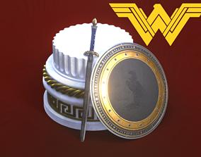 3D model Wonder Woman Sword and shield