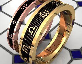 Zodiac couple ring 3D printable model