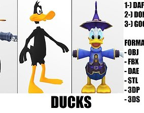 Donald Duck 3D model animated