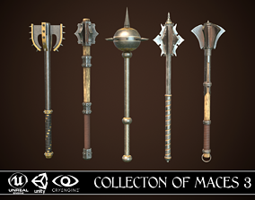 Collection of Maces 3 3D