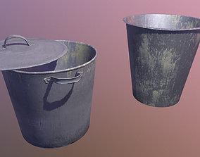 3D asset Old buckets
