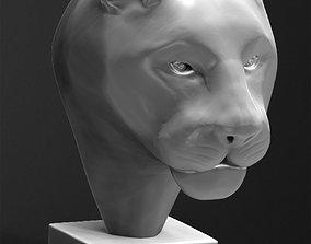 Black Panther Head Sculpture 3D printable model