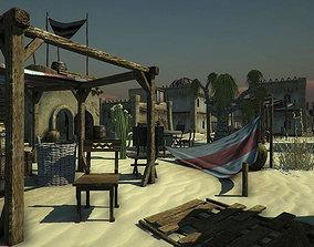 3D asset Desert Oasis