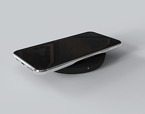 iPhone 11 Wireless Charging Pad in Black And White 3D