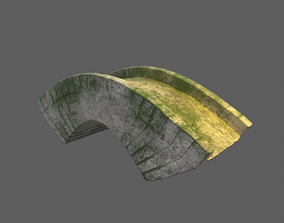 stone bridge 3D model low-poly