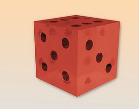 3D asset Dice both lowpoly and highpoly with 10 1