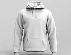 3D model Mens Hoodie - Marvelous Designer
