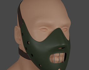 Hannibal Lecter mask 3d model disguise
