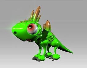 3D model Cartoon cute dinosaur toy