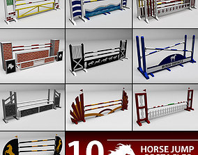 Horse jump obstacle pack 3D model