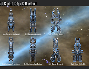 2D Capital Ships Collection I 3D