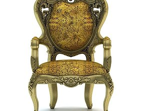 3D model Classical carved chair