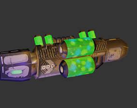 Bio-Beam Rifle Sci-Fi Weapon RTS Low-Poly Model 3D asset