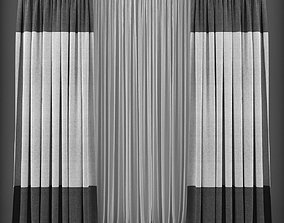 realtime Curtain 3D model 134