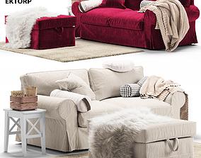 pouf Sofa Ectorp Ikea 3D