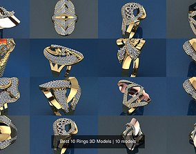 ring Best 10 Rings 3D Models