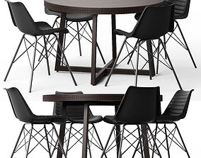 3D Cult Living Dexter Chair and Zephyr Table