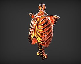 3D print model BRO HUMAN RIB SHAPE PENDANT