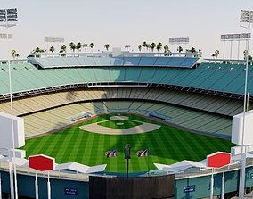 Dodger Stadium - Los Angeles 3D asset low-poly