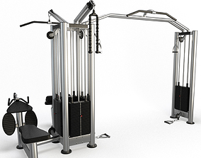 3D model Gym Cable station