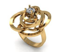 Rose Ring 3D print model