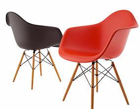 3D Armchair DAW by Vitra Eames