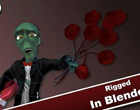 Toony Romantic Zombie GAME-READY I Rigged in 3D asset