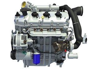 Turbocharged Direct Injection Gasoline Engine 3D model