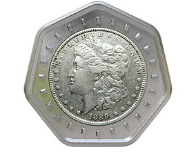 3D Digital Currency Coin - 600 BTC
