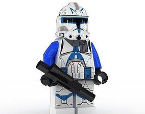 LEGO Minfigure Clone Trooper Rex 3D