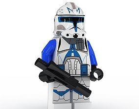 LEGO Minfigure Clone Trooper Rex toy 3D model