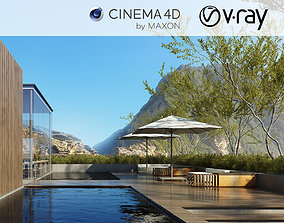 VRay - C4D Scene files - Resort Exterior 3D