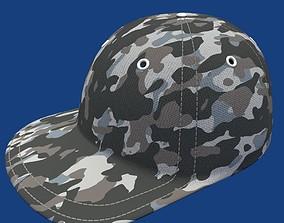 Cap hat Camouflage 3D asset
