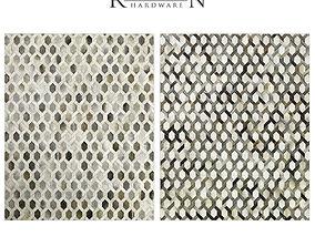 Link Cowhide Rug RH carpet 3D